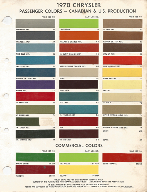 Dodge Paint Color Chart Related Keywords & Suggestions
