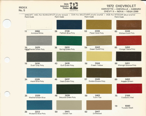 Paint moreover Colorcodedisplay likewise Chipdisplay besides Parts 68936976 moreover Article 60 1968 Corvette Paint   Color Chip Sheets. on color codes 1966 chevrolet nova