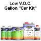 100 Series Solid Color Basecoat Clearcoat Car Paint Kits Low VOC